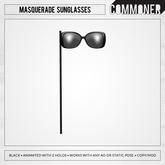 [Commoner] Masquerade Sunglasses / Black