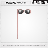 [Commoner] Masquerade Sunglasses / Blush
