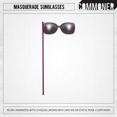 [Commoner] Masquerade Sunglasses / Plum