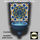 Mexican wall fountain blue (scripted with sound)