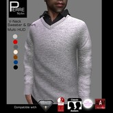 PS : V-Neck Sweater with Shirt-TMP, SLINK ADAM, Eastetic