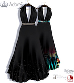 AdoreZ- Julie Long  Dress Black