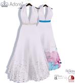 AdoreZ- Julie Long Dress White