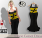 #b Circie Candy Corn Yellow Corset Gown