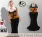 #b Circie Pumpkin Orange Corset Gown