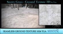 Vita's Textures - SNOWY GRASS 3D 1024 Seamless  2016