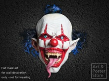 Scary Snake Tongue EVIL CLOWN Mask Halloween Wall Decoration