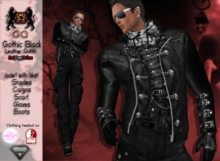 GQ Black Leather Gothic Outfit - By 69 Park Ave
