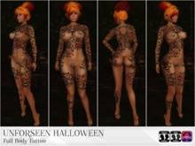 KARVED PROMO Unforseen Halloween Tattoo Colour and Black Outline Versions Classic Layers & Omega Appliers