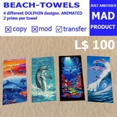 BeachBonanza MAD-DOLPHIN - BEACH TOWELSET