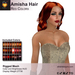 A&A Amisha Hair Red Colors Pack. Rigged mesh medium womens hairstyle with color change HUD
