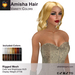 A&A Amisha Hair Variety Colors Pack. Rigged mesh medium womens hairstyle with color change HUD