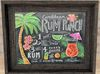 Texture changing Kitchen wall art chalk board picture