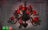 [MF] Mesh high red candles chandelier (boxed)
