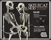 ::Static:: Skelecat Mod - Steampunk Filigree Bare