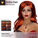 A&A Zintha Hair Red Colors Pack. Rigged mesh long womens hairstyle