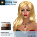A&A Zintha Hair Variety Colors Pack. Rigged mesh long womens hairstyle
