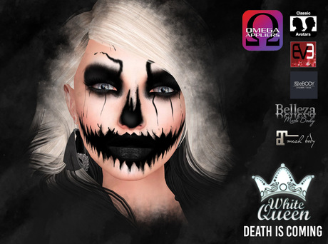 ::White Queen::  Death is Coming - makeup and tattoo - Omega