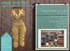 Addams Military Mesh Outfit -Maitreya,Belleza,Tmp,Slink,Womens Suit Stefani- Mustard