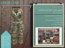 Addams - Military Suit with Bra - Stefani #Camo 1