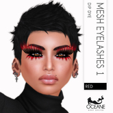 Limited Lashes: Oceane - Dip Dye Mesh Lashes Red