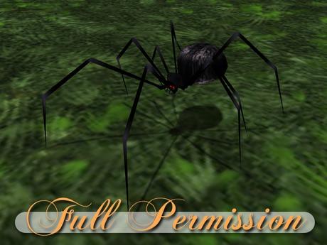 ~AB~ Big Disgusting Black Spider ~ Full Perm Mesh ~ 0.5 LI