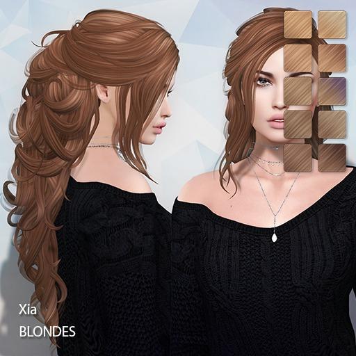 TRUTH HAIR - Xia (Rigged Mesh Hair) -  blondes