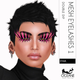 Lashes: Oceane - Double Dip Mesh Lashes Pink