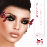 Limited item: Oceane - Mesh Butterflies 2 for Face - Wine
