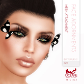 Limited item: Oceane - Mesh Butterflies 2 for Face - Dot