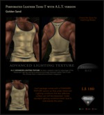 Perforated Leather Tank-T in Golden Sand with TBBlue Trim - includes an ADVANCED LIGHTING TEXTURE version