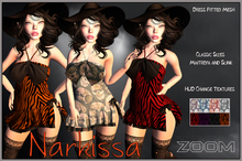 zOOm - Narkissa Fitted Mesh Dress with HUD change textures!