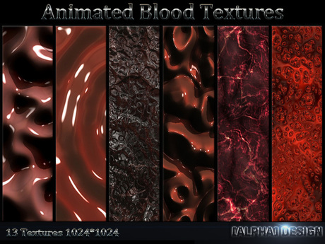 Second Life Marketplace Animated Blood Textures 13 Hd Textures Textures are perfect for 3d max, cinema 4d, photoshop and other programs. marketplace animated blood textures