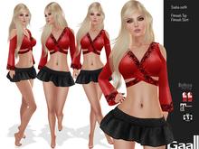GAALL Sasha I Outfit (Maitreya clothes, Slink P, H, Belleza V, I, F) Black Edition
