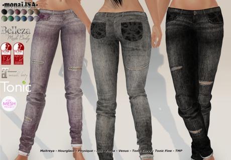-mL- Charlene Jeans (Maitreya/3Belleza/2SLink/2Tonic/TMP) - HUD