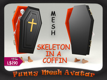 SKELETON IN A COFFIN - MESH