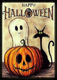 Happy Halloween Sign - Gift - Tidbits