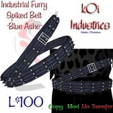 Industrial Furry - Cracked Spike Belt - BlueAshe