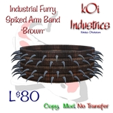 Industrial Furry- Spiked Arm Band - Brown