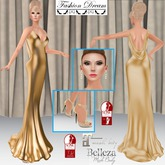 """007 Spectre"" Gold Gown - Fashion Dream"