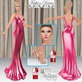 """007 Spectre"" Magenta Gown - Fashion Dream"