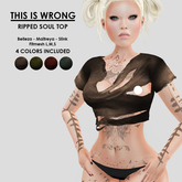 THIS IS WRONG Ripped soul top SLINK 4 colors!