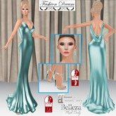 """007 Spectre"" Teal Gown - Fashion Dream"