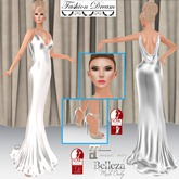 """007 Spectre"" White Gown - Fashion Dream"