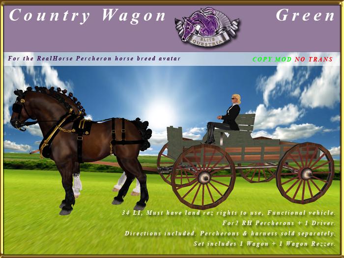 *E* Country Wagon [RH Percheron] BOXED Green