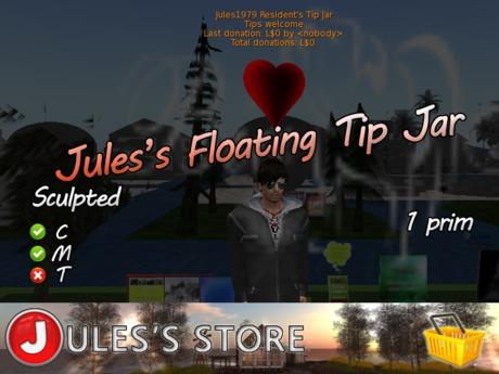 Jules's Floating Tip Jar