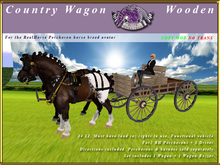 *E* Country Wagon [RH Percheron] BOXED Wooden