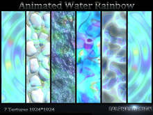 Animated Rainbow water Texture Set - 7 HQ animated textures