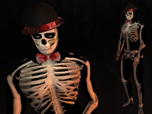 Paris METRO Couture: Skeleton Love Gents Outfit with Appliers