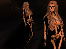 Paris METRO Couture: Skeleton Love Ladies Outfit with Appliers, Skirt and Boots!